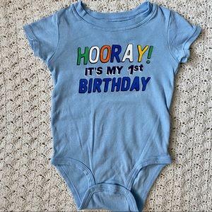 3/$10 Carter's First Birthday onesie- 12M